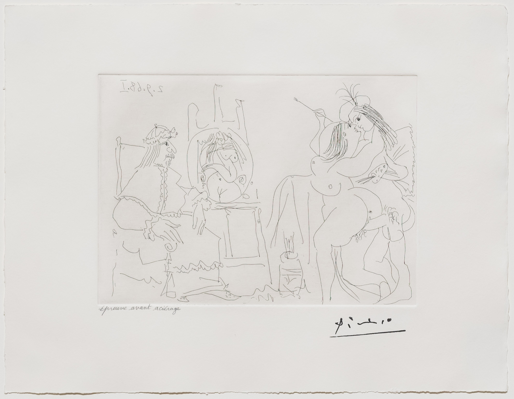 Raphael et la Fornarina X…, from the 347 Series by Pablo Picasso