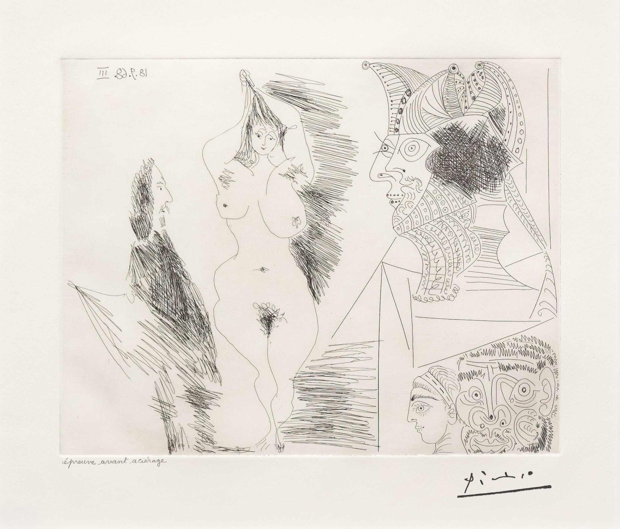 Jeune Femme et Gentilhomme…, from the 347 Series by Pablo Picasso