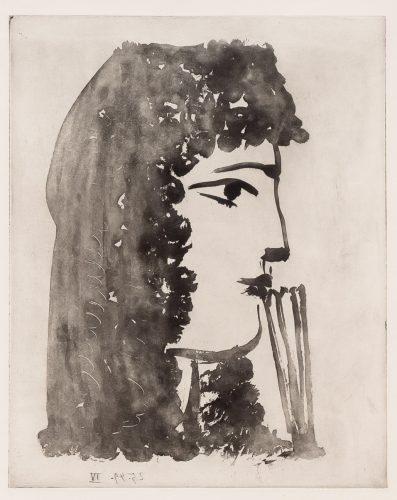 Carmen, de Profil by Pablo Picasso