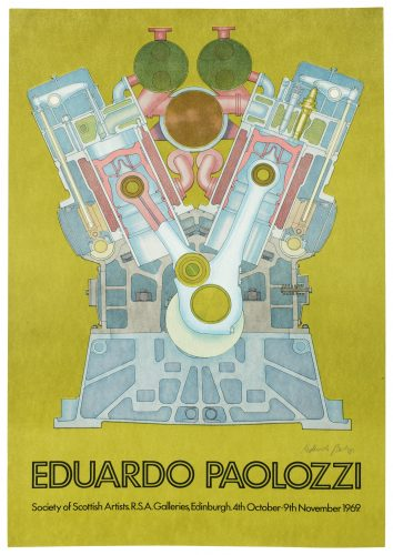 Society of Scottish Artists Exhibition 1969 by Eduardo Paolozzi at