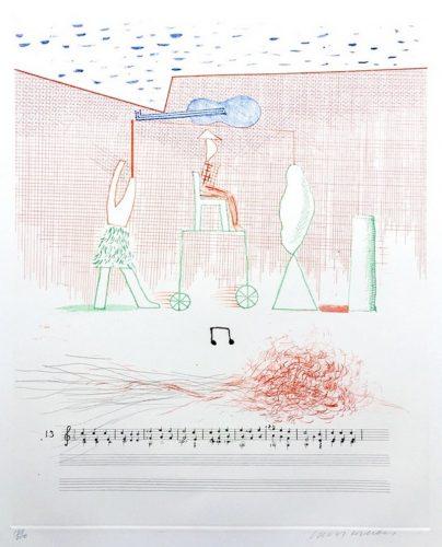 Parade by David Hockney at Fairhead Fine Art