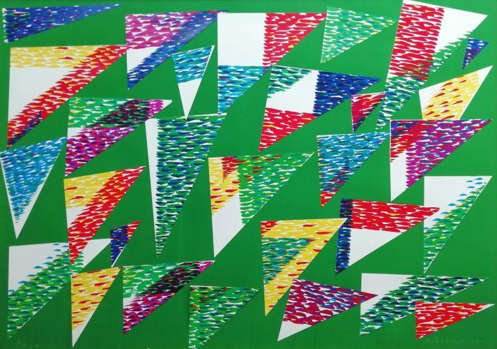 Collage di Triangoli by Piero Dorazio