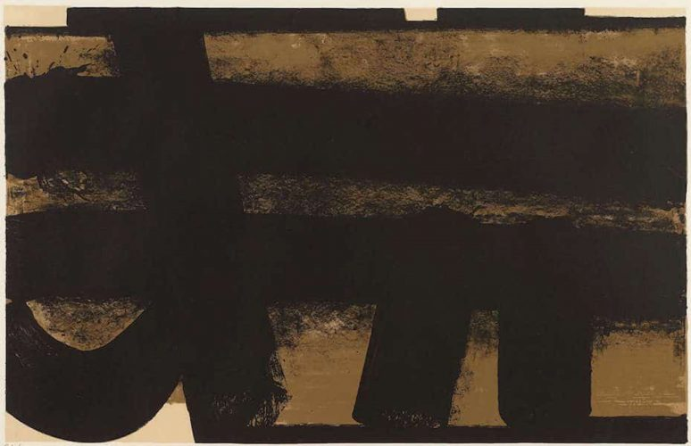 Lithographie 35 by Pierre Soulages
