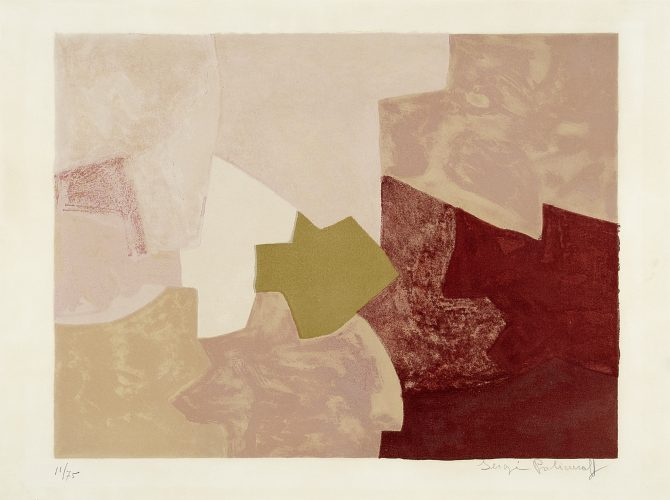 Composition en rose by Serge Poliakoff