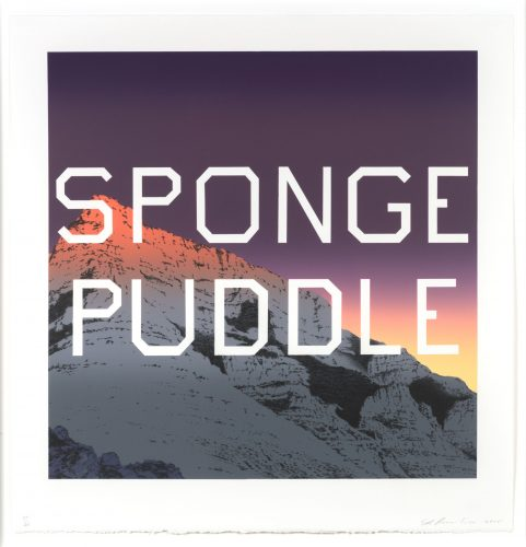 Sponge Puddle by Ed Ruscha