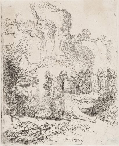 Christ Carried to the Tomb by Harmensz van Rijn Rembrandt at Harmensz van Rijn Rembrandt