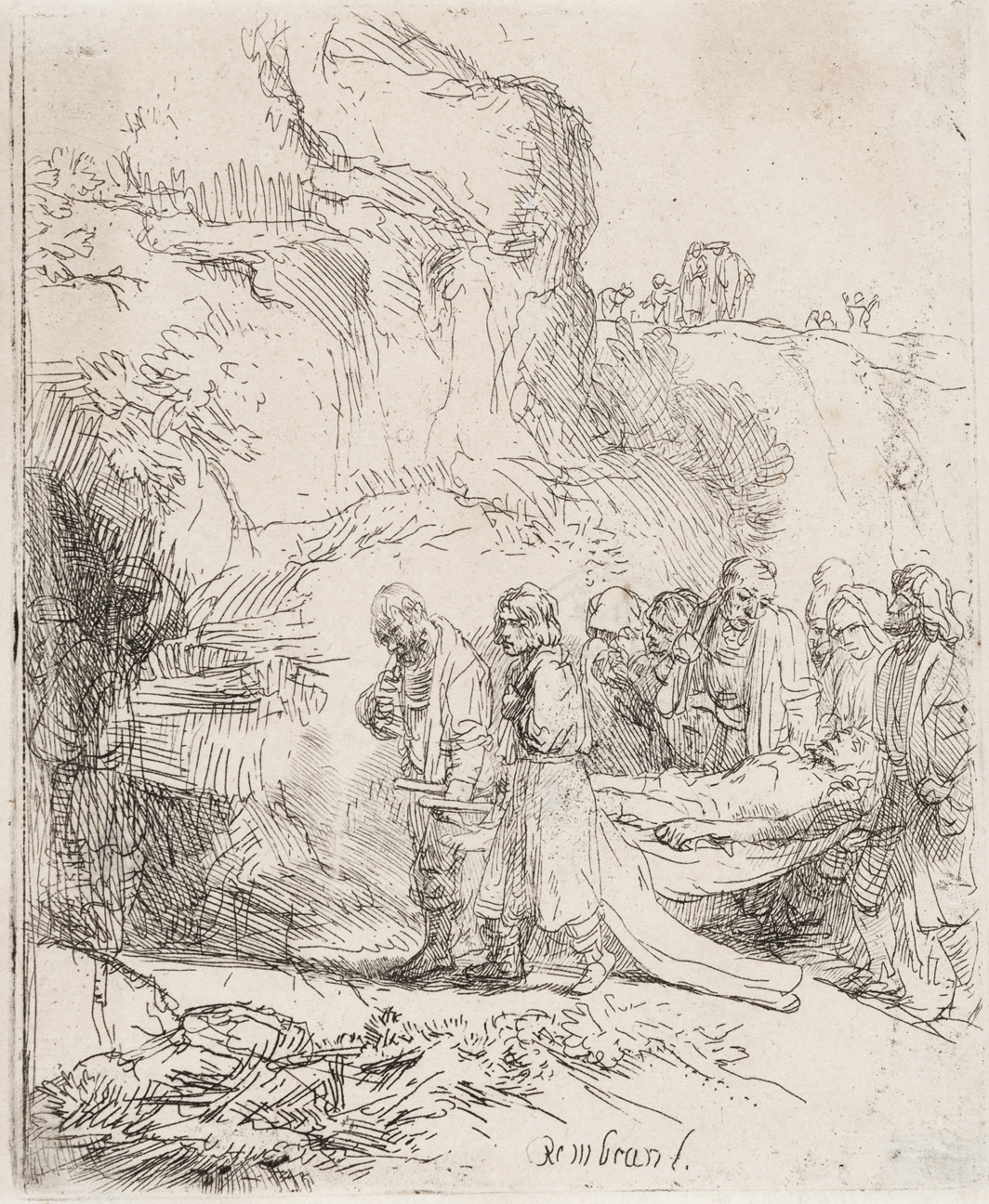 Christ Carried to the Tomb by Harmensz van Rijn Rembrandt