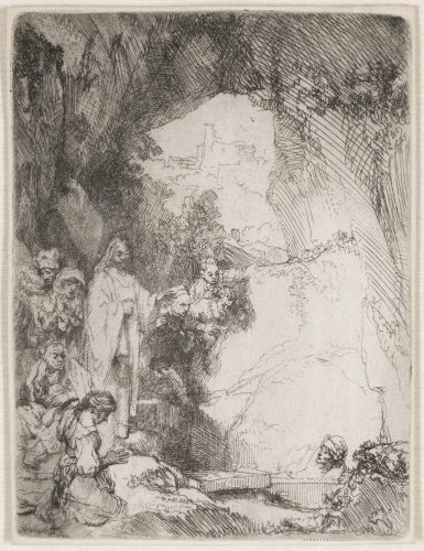 The Raising of Lazarus:  Small Plate by Harmensz van Rijn Rembrandt