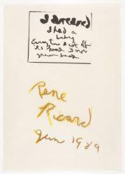 I Dreamed by Rene Ricard at Petersburg Press