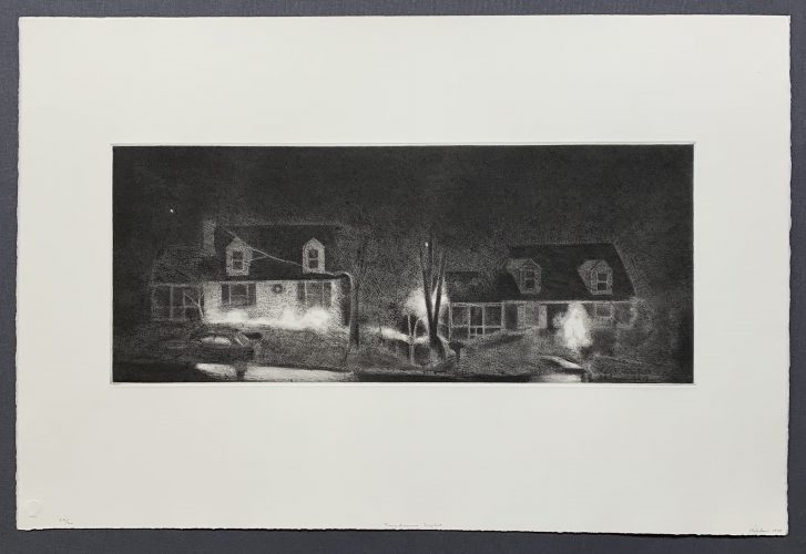Two Houses – Night by Charles Ritchie at