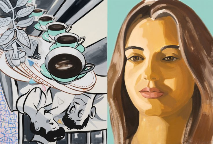 Patient and Nurse by David Salle at