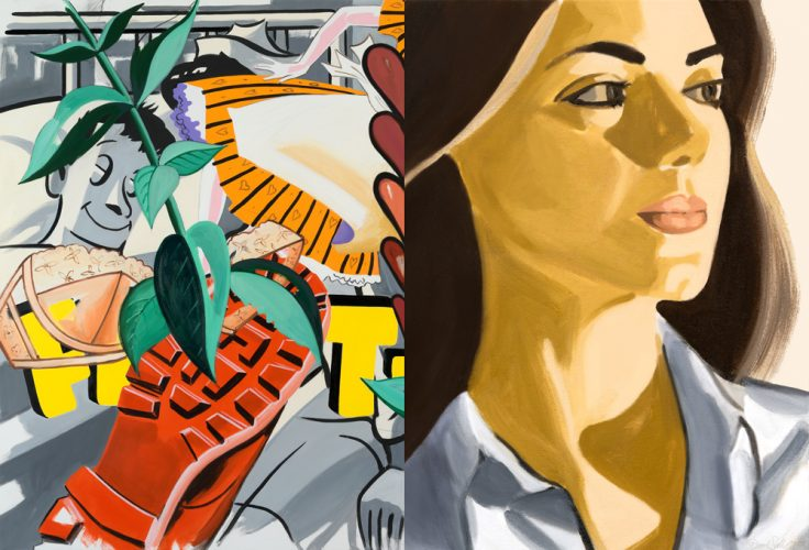 Verdiana with Hearts by David Salle at