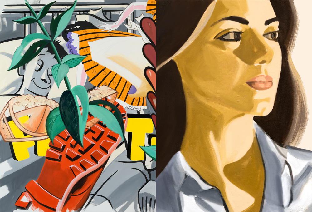 Verdiana with Hearts by David Salle