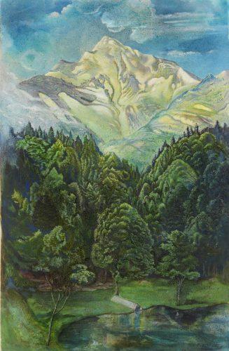 The Schafberg (Mountain in the Salzburg region) by Rudolf Schlichter