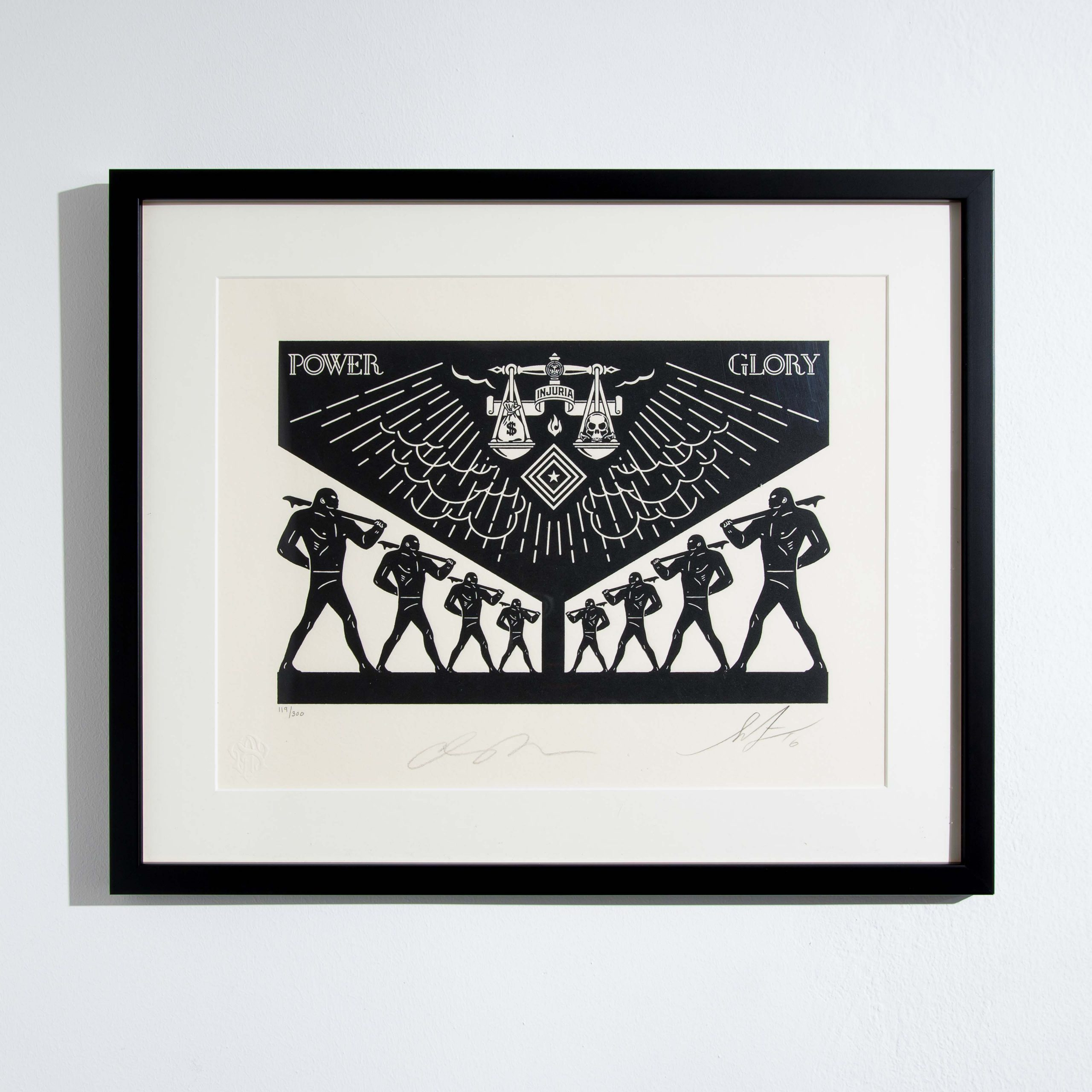 Scales of Injustice by Shepard Fairey & Cleon Peterson