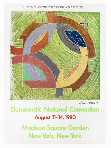 Democratic National Convention (Polar Co-ordinate IV) signed by Frank Stella