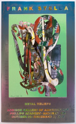 Addison Gallery, Andover 1982 Poster (Katsura 1977) by Frank Stella at