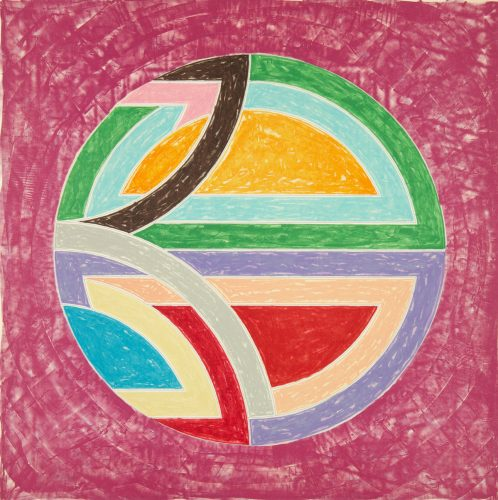 Sinjerli Variation Squared with Colored Ground I by Frank Stella