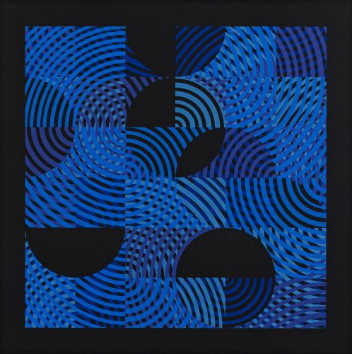 Study in Blue on Black by Alex Charrington at
