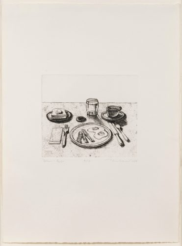Bacon and Eggs, from Delights by Wayne Thiebaud