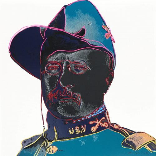 Cowboys & Indians: Teddy Roosevelt by Andy Warhol