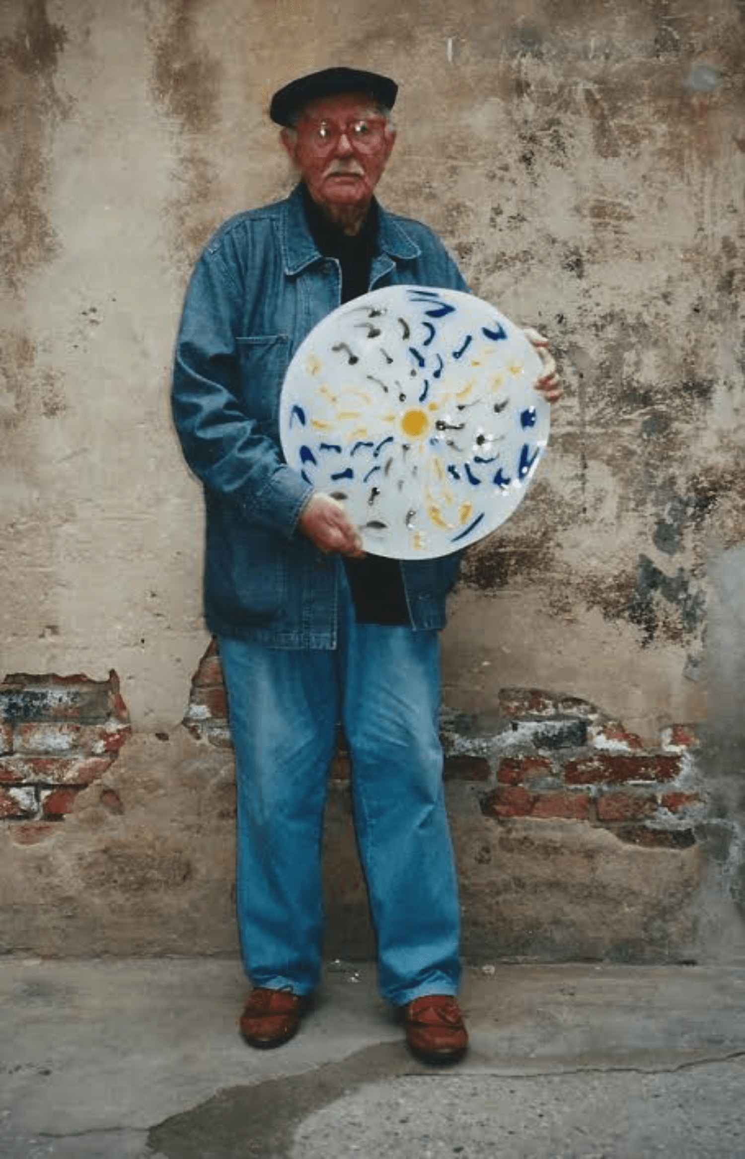Serenissimo – Glass Disc – A tribute to Venice and the Lagoon by Terry Frost