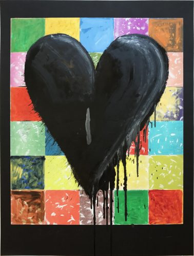 The Colorful Wall by Jim Dine