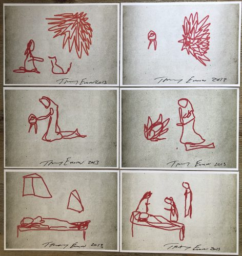 Tracey Emin Full Set Ipad Sketches Signed by Tracey Emin at