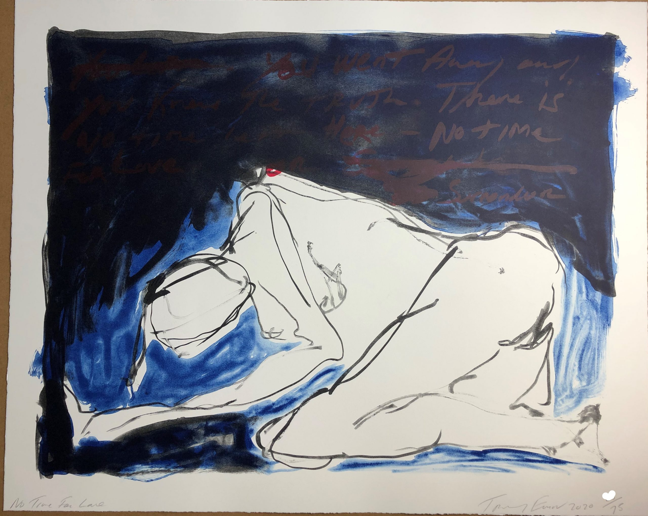 """Tracey Emin """"No Time For Love"""" by Tracey Emin"""