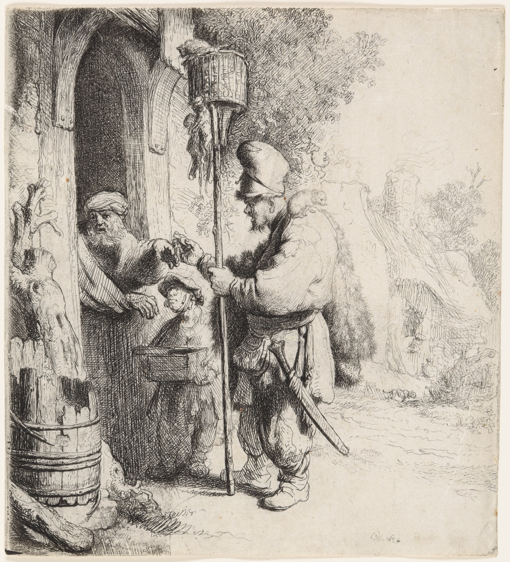 The Rat Catcher (The rat-poison peddler) by Harmensz van Rijn Rembrandt