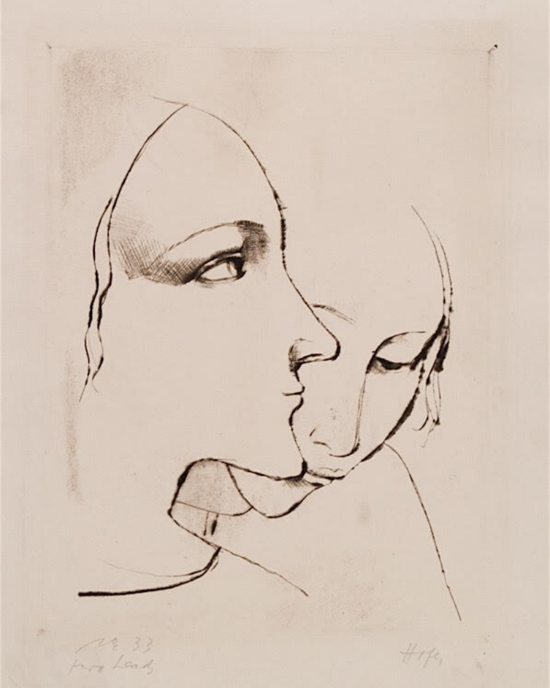 Two Heads by Karl Hofer