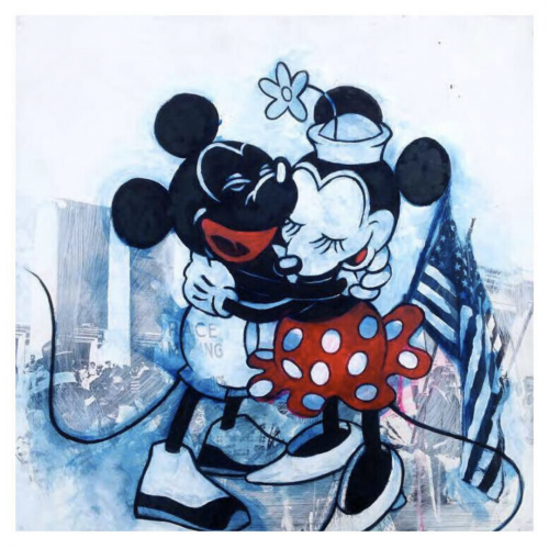 Minnie Loved Mickey – My BFisBLK by DL Warfield at