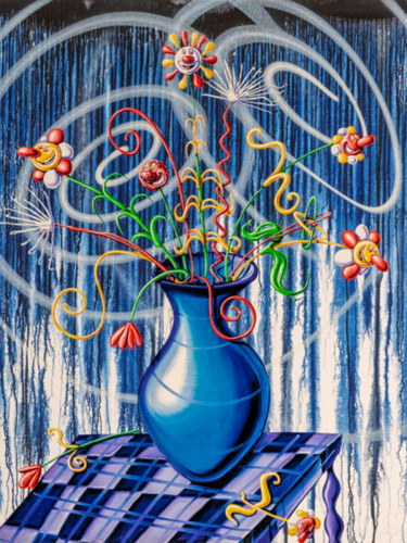 Flores (Blue) by Kenny Scharf