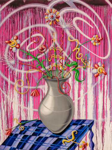 Flores (Magenta) by Kenny Scharf at