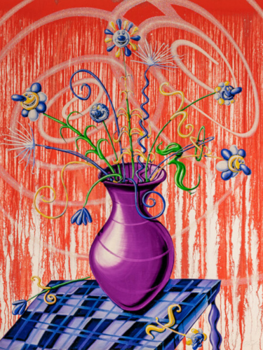 Flores (Red) by Kenny Scharf