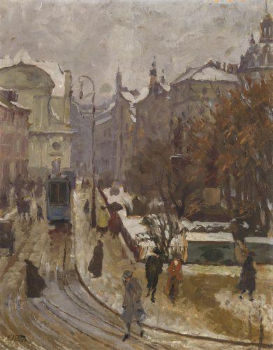 Promenadeplatz in Winter by Charles Vetter