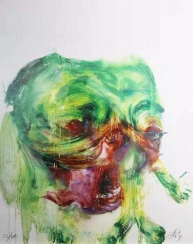 Green Dog no. 1 by Zhou Chunya