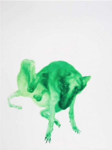 Green Dog no. 2 by Zhou Chunya