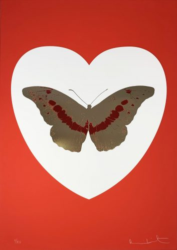 I Love You – White/Red/Cool Gold/Poppy Red by Damien Hirst