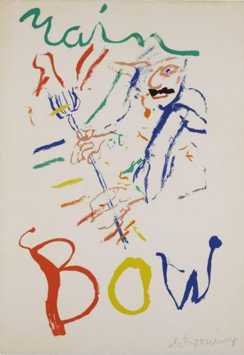 Rainbow: Thelonious Monk Devil at the Keyboard by Willem De Kooning at