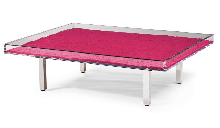 Table Rose by Yves Klein at