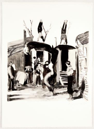 Acrobats by Michele Zalopany at