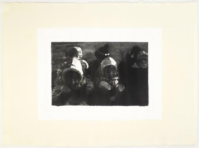 Children (lithograph) by Michele Zalopany at