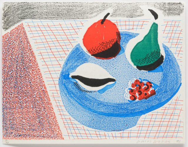 The Round Plate, April 1986 by David Hockney