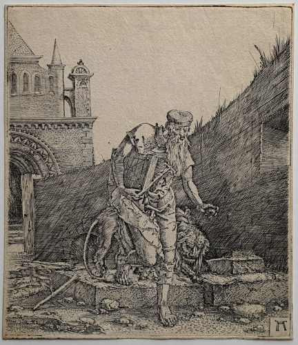 Saint Jerome Walking in a Churchyard by Albrecht Altdorfer at