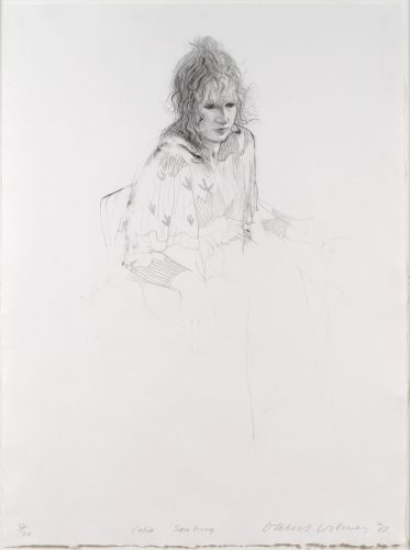 Celia Smoking by David Hockney