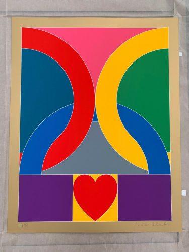 """Peter Blake Signed """"Olympic Symbol"""" by Peter Blake"""