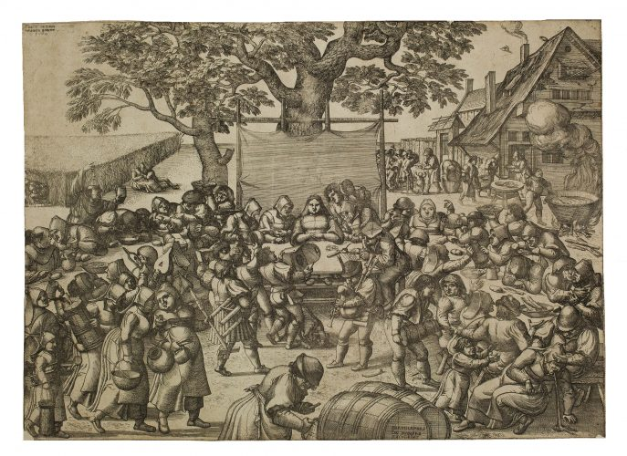 The Large Wedding Feast by Pieter van der Borcht at