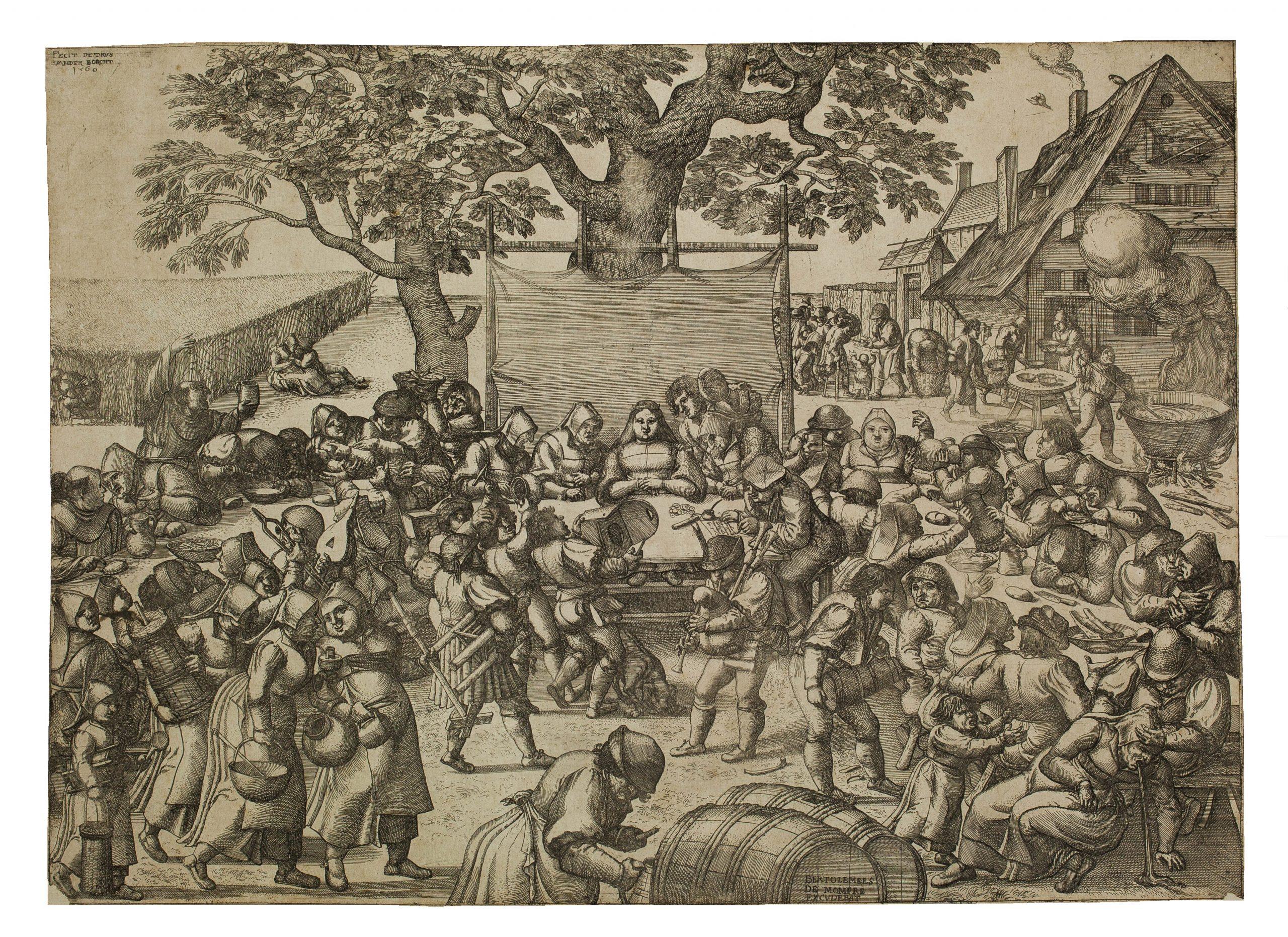 The Large Wedding Feast by Pieter van der Borcht
