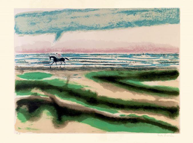 Cavalier sur la plage by André Brasilier
